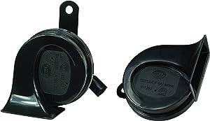 HELLA 012010911 Black 12V BX Trumpet Horn Kit (Honda)