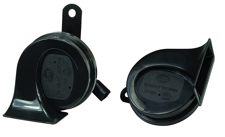 Hella 012010911 Black 12v Bx Trumpet Horn Kit Honda Motorcycle 24v Wiring Diagram Automotive