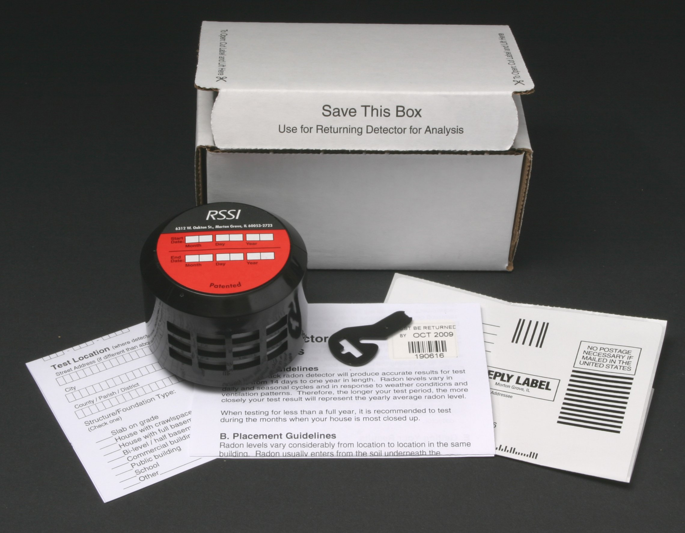 Long Term Alpha Track Radon Detector Kit (Can NOT sell to New Jersey Addresses)