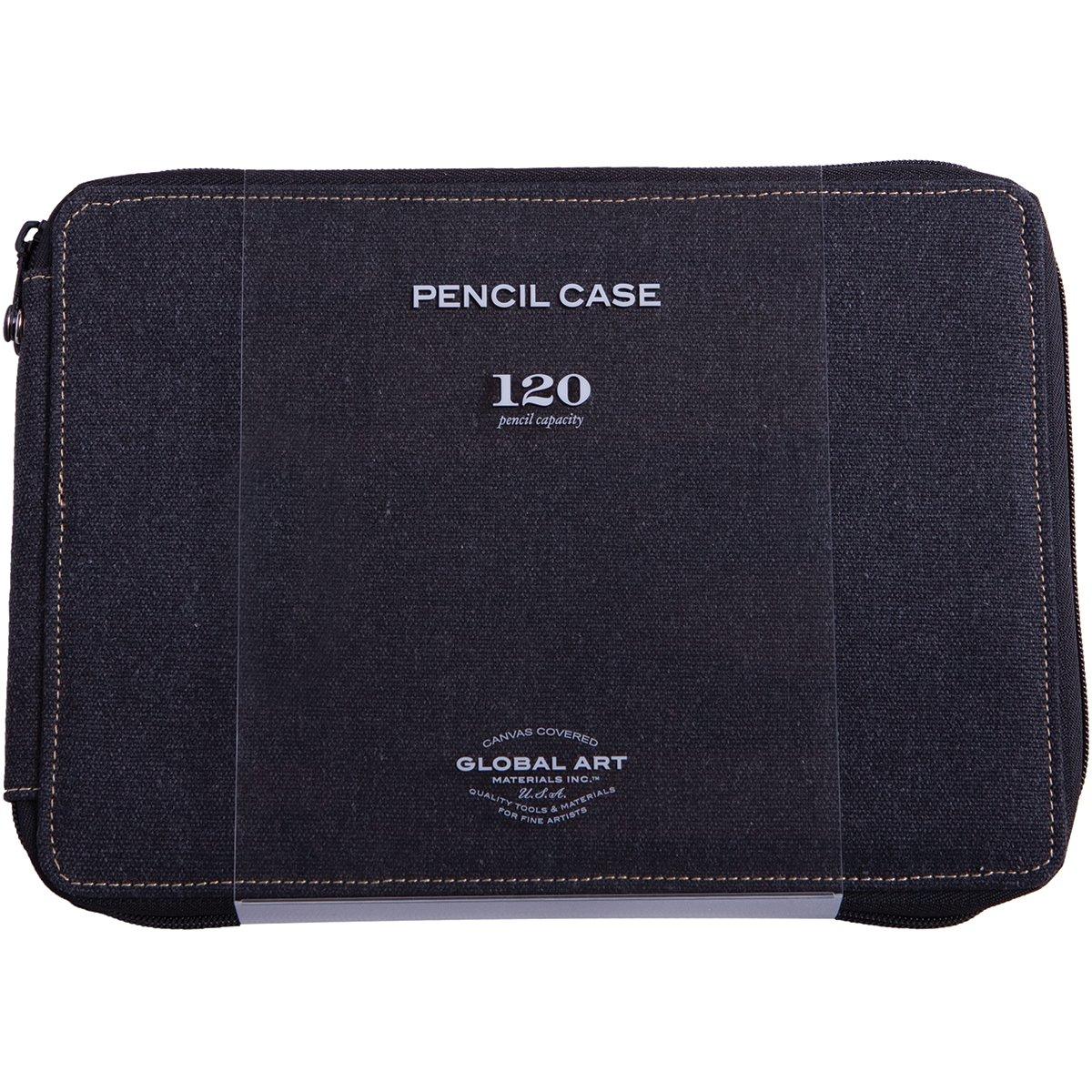 Global Art Canvas 120 Pencil Case Black