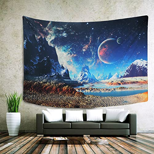 Sunm Boutique Tapestry Wall Hanging Wall Tapestry Galaxy Tapestry Planet Tapestry Psychedelic Tapestry Vintage Tapestry Home Decor 70.8 x 92.5 , Galaxy 2