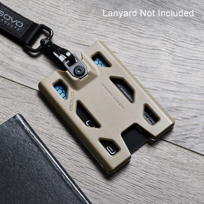 marrone chiaro /durevole carta d identit/à con clip in metallo e 4/carte slot per 1//–/4/carte Govo porta badge//portafoglio/