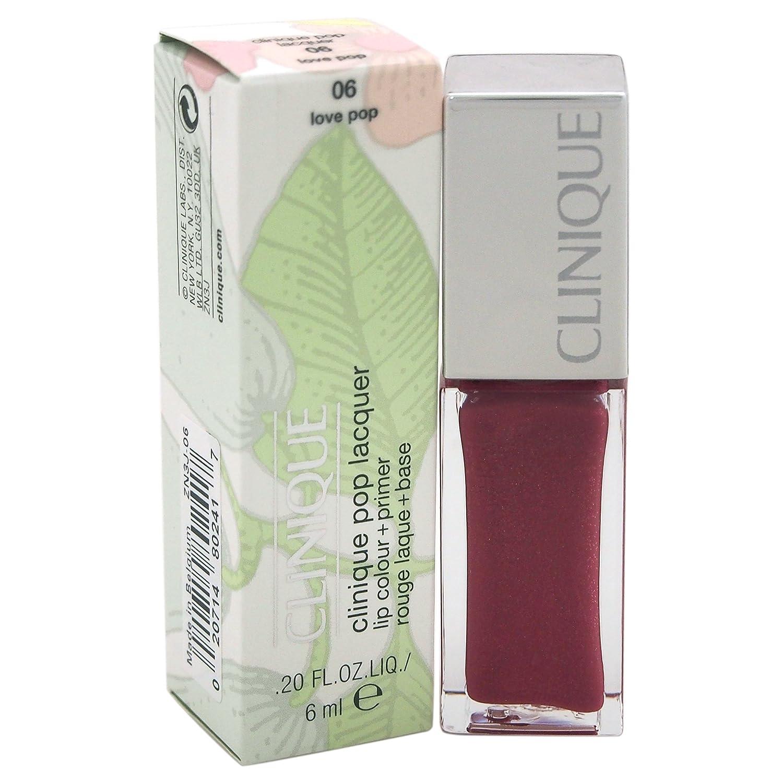 Clinique Pop Lacquer Lip Colour (Gloss) + Primer - 06 Love Pop for Women, 0.2 oz 20714802417 CLI00563