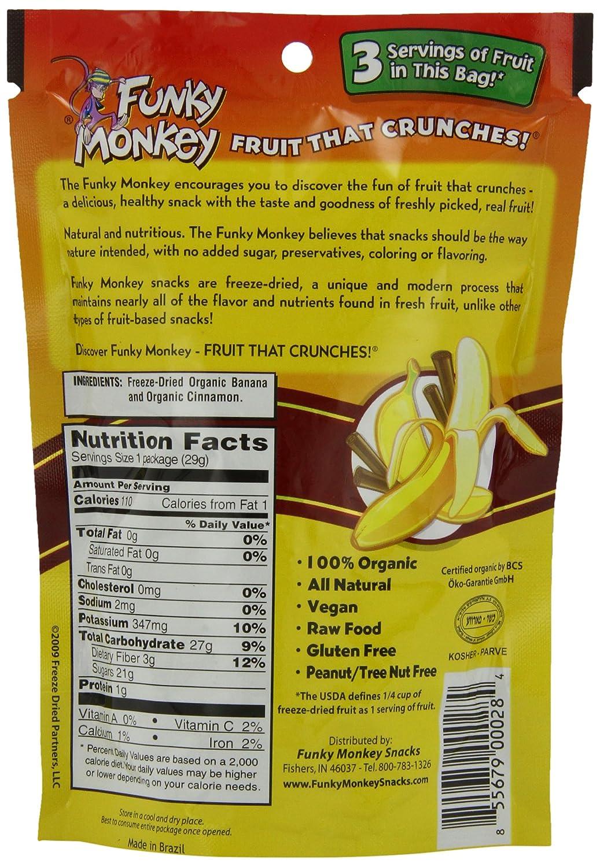 amazon com funky monkey snacks variety pack freeze dried fruit