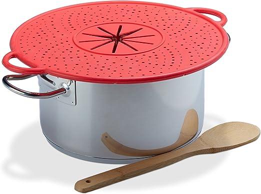 culinario /Überkochschutz Universaldeckel zum Schutz vor dem /Überkochen optimal f/ür T/öpfe von /Ø 16-28 cm