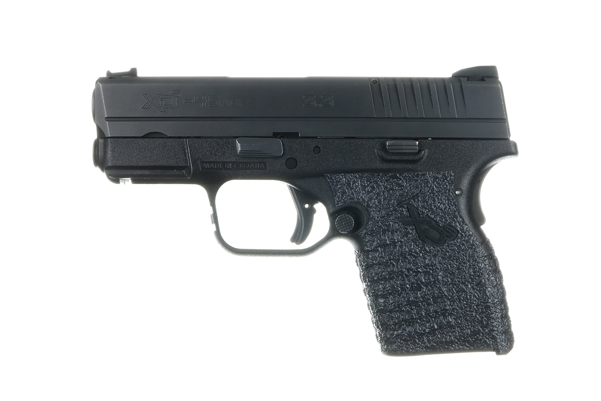 TALON Grips Talon Grip for Springfield Xds with Large Backstrap, Black Rubber Talon Grip for Springfield Xds with Large Backstrap