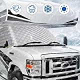 BougeRV RV Windshield Window Snow Cover for Class C Ford 1997-2020 Motorhome Windshield Cover Snow Cover for RV Front…