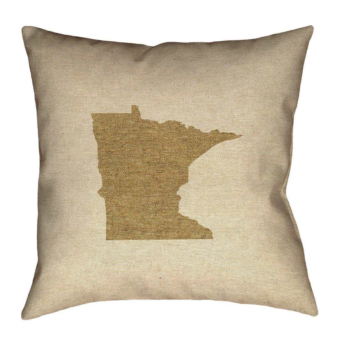 ArtVerse Katelyn Smith 14 x 14 Spun Polyester Minnesota Canvas Pillow