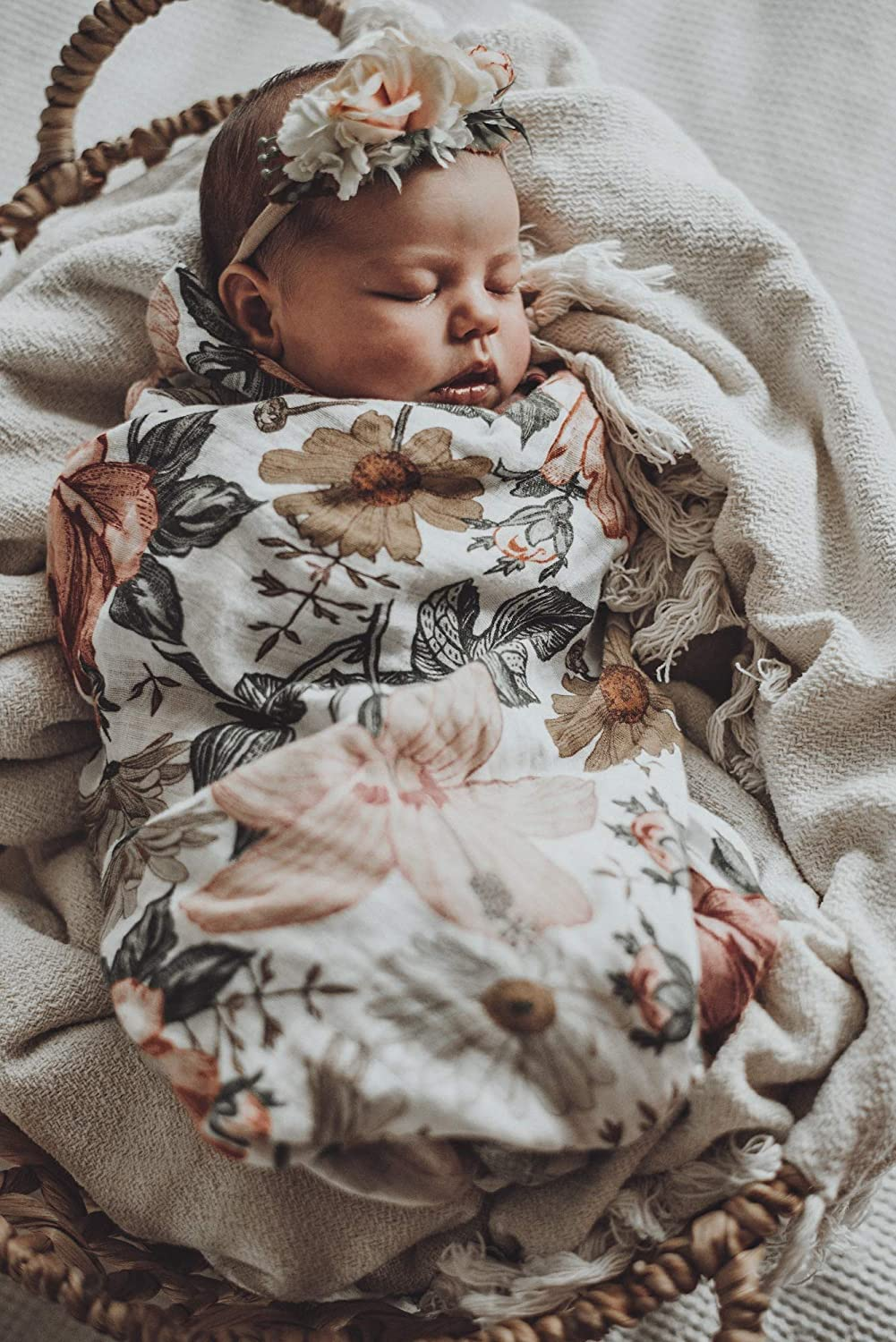 Baby Girl Swaddle Blanket The Mini Scout Muslin Swaddle Blanket Floral Baby Blanket