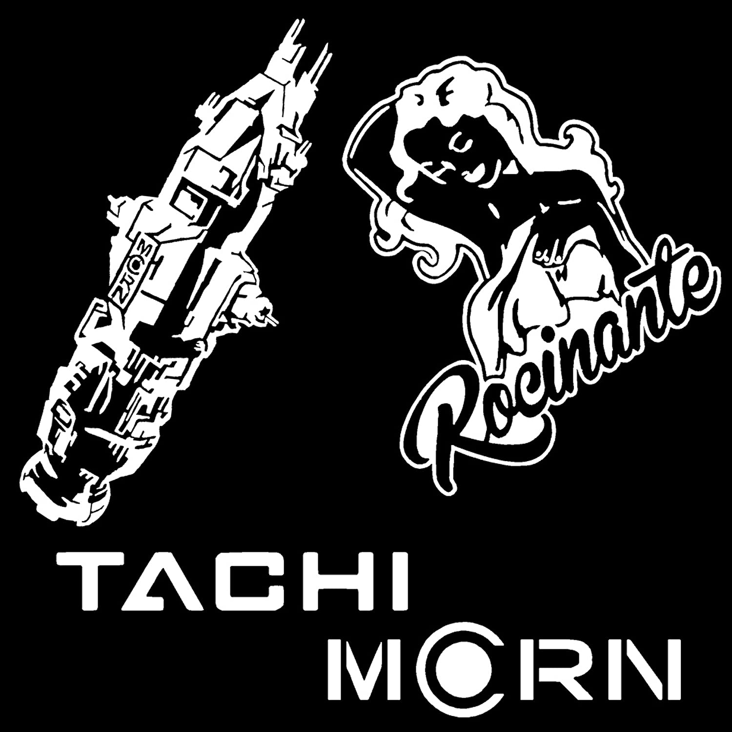 Amazon com rocinante tachi ship the expanse inspired decals multi pack