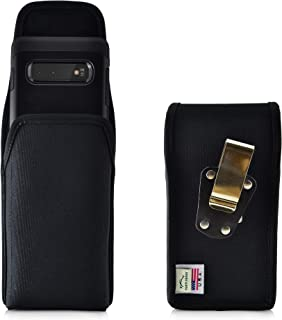 product image for Galaxy S10+ Plus Belt Clip Case, Turtleback Vertical Galaxy S10+ Plus Holster, Black Nylon Pouch with Heavy Duty Rotating Belt Clip, Made in USA