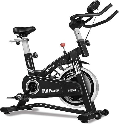 PASYOU Exercise Bike Belt Drive Indoor Cycling Bike