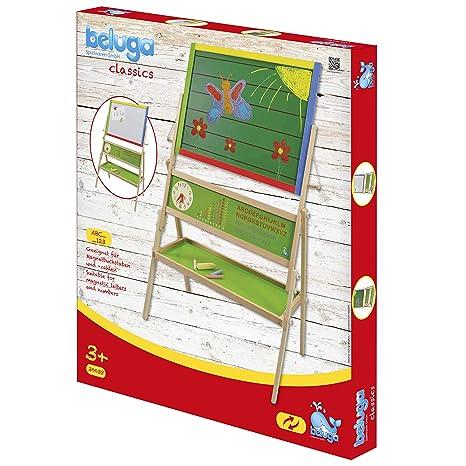 Beluga 30038, Pizarra de Pie con Abaco, Letras y Reloj Educativo, 66,