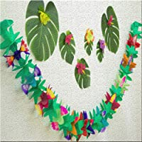 Energeti Festival hawaiano 3 m colorido tejido flor
