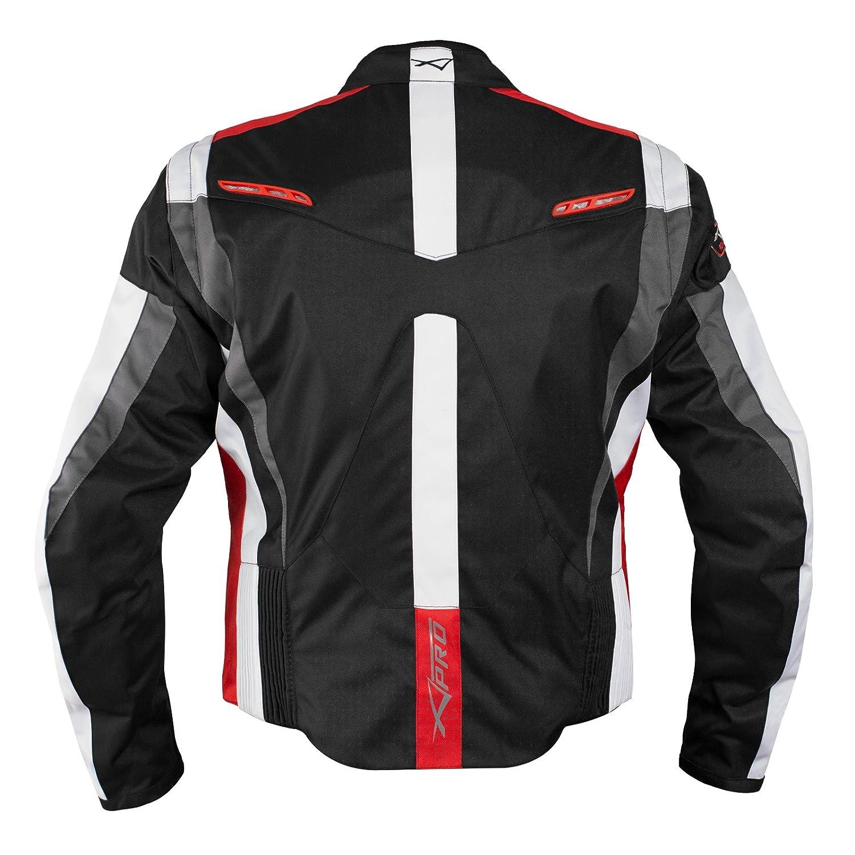 A-Pro Motorradjacke CE Protektoren Sport Textil Motorrad Thermofutter Rot S