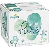 Pampers Aqua Pure 6X Pop-Top Sensitive Water Baby Wipes, 336 Count