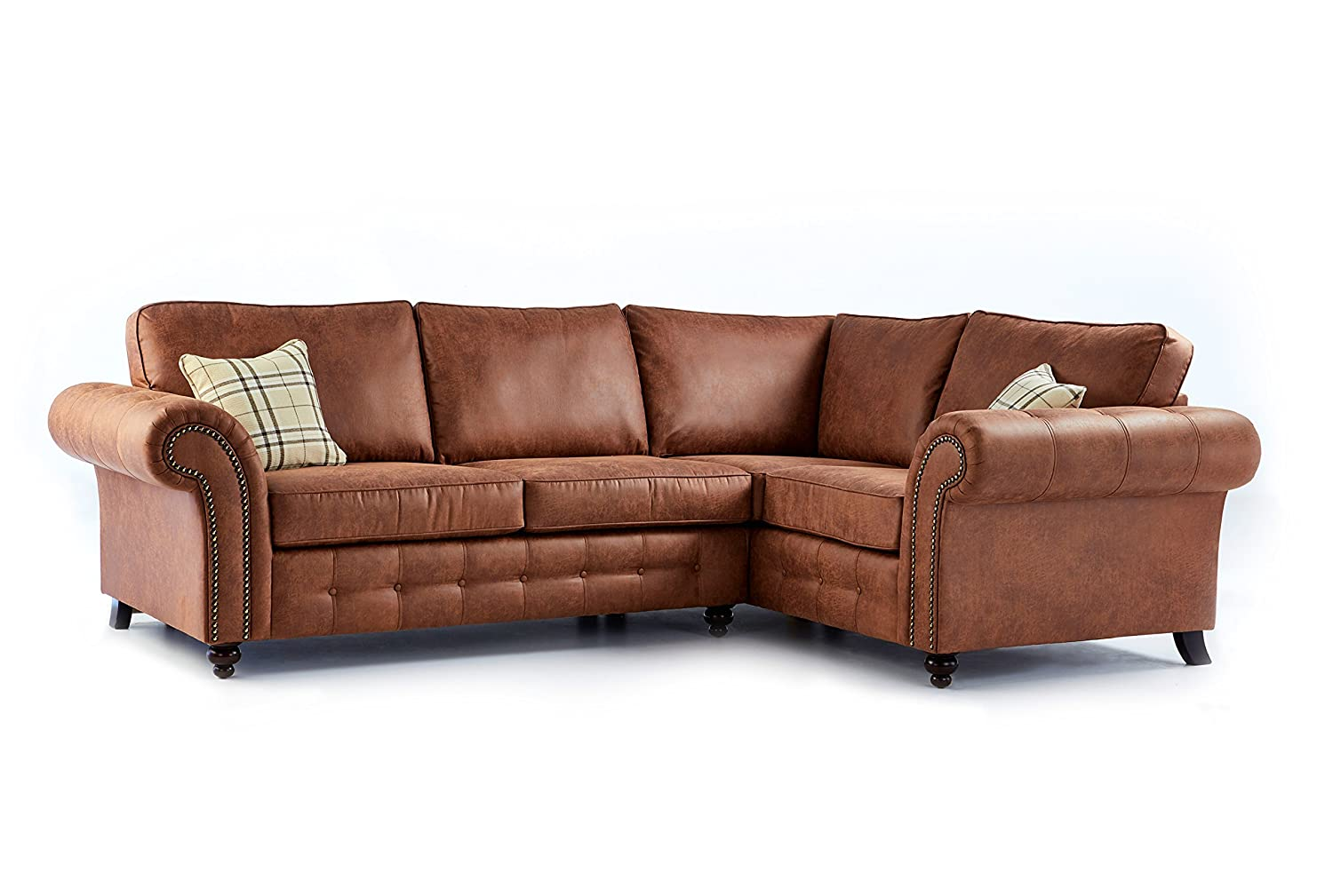 New High Quality Oakridge Large Leather 4 Seater Corner