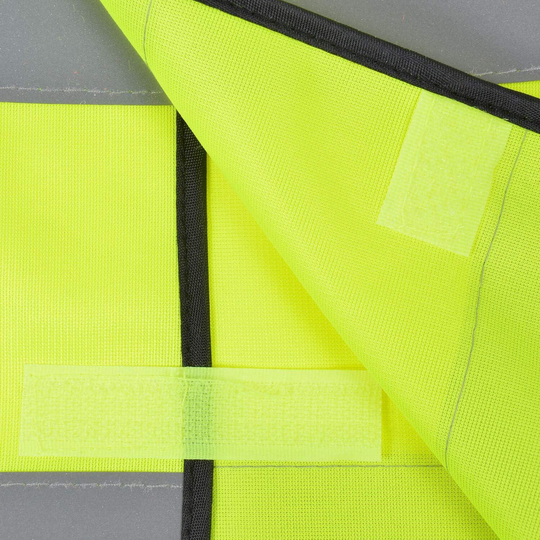 Warnweste /· Bitte Abstand halten /· Funktionsweste Sicherheitsabstand Abstand halten 1,5m 2m Gelb Orange Neon Pr/ävention Kontaktsperre Ausgangssperre Sicherheit /· Gelb Druck Schwarz 5XL