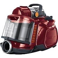Electrolux ESPC72RR Silent Performer Cyclonic Aspirapolvere Senza Sacco, Tecnologia Turbociclonica, Sistema Silence PRO, ErgoShock, Filtrazione Clean Air, 650 W, 1.4 Litri, 72 Decibel, Rosso Lampone