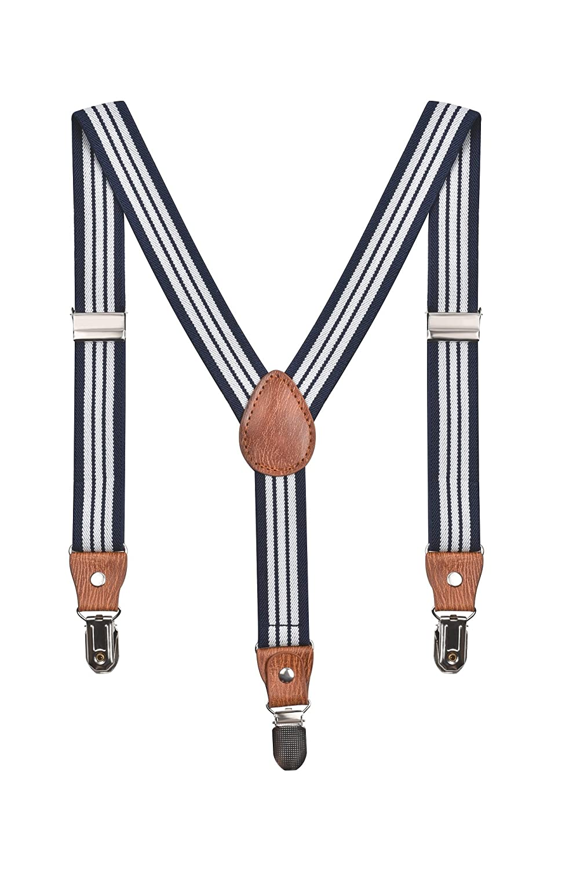 Kids Braces Boys 20mm Adjustable Elastic Childrens Clip On Suspenders Y Shape