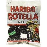 Haribo Gummy Candy, Rotella Black Licorice, 175g