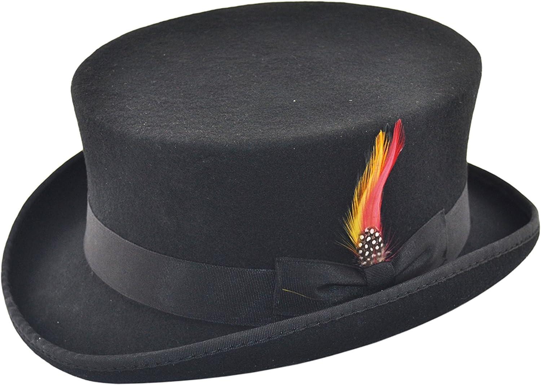 Deadman in feltro cappello a cilindro equitazione equestre Ascot Event dressage topper con rimovibile Feather