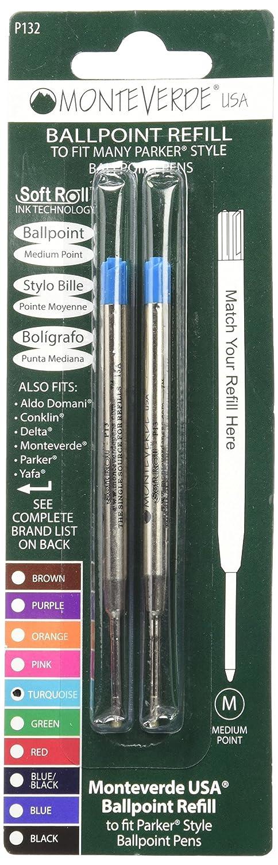 Monteverde J221308 Blister 2 Refill per Penna a Sfera Parker 2 Pezzi