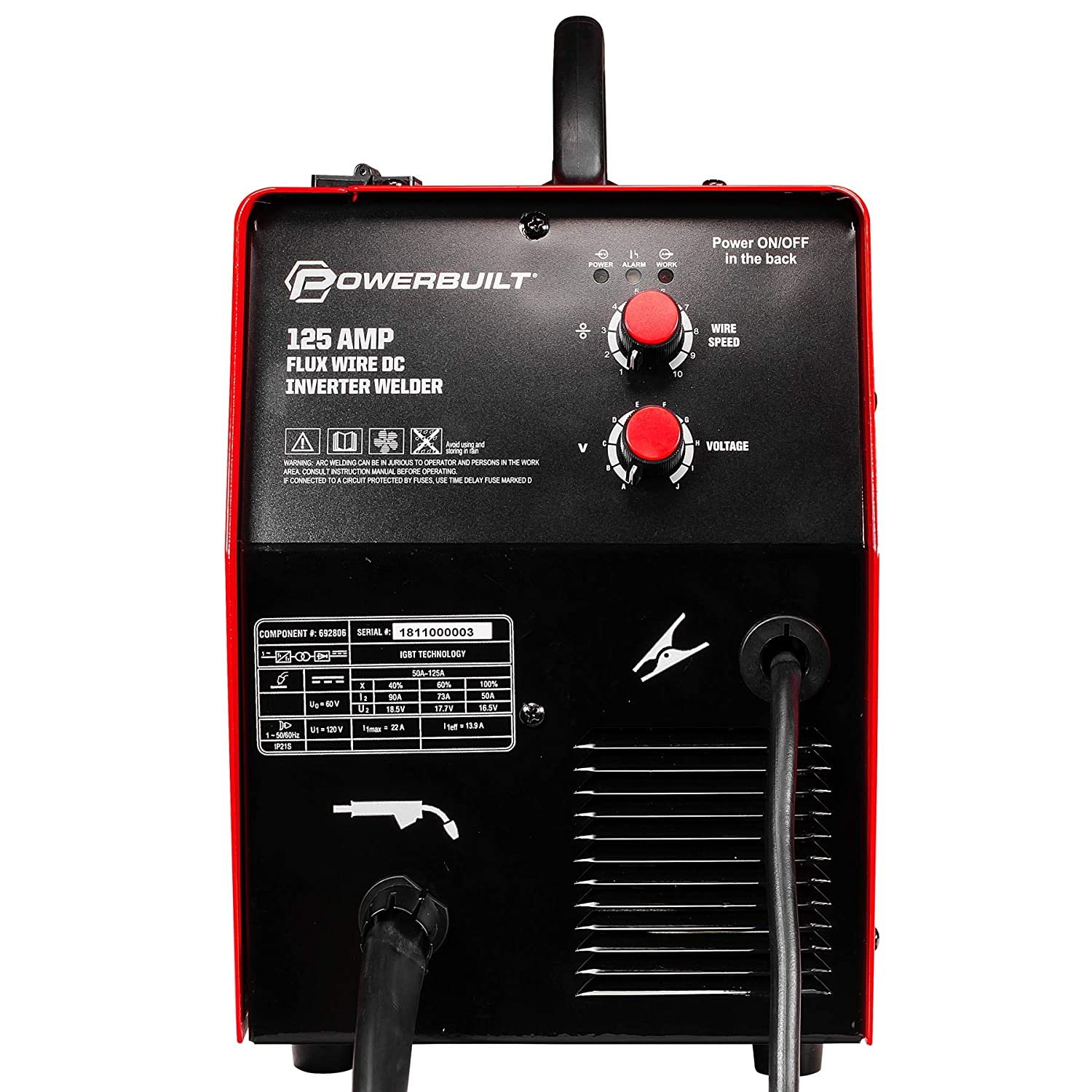 Powerbuilt 125A Portable IGBT Inverter Wire Feed MIG Flux Welder - 240131 - - Amazon.com