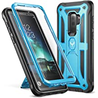 Galaxy S9+ Plus Case, YOUMAKER Heavy Duty Protection Kickstand with Built-in Screen Protector Shockproof Case Cover for Samsung Galaxy S9 Plus 6.2 inch (2018 Release) (Blue)