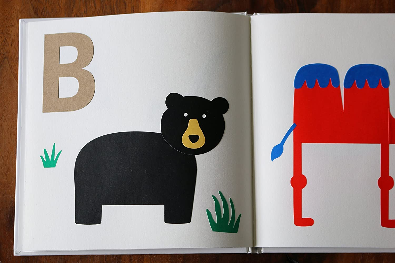 DIY ABC book printable raccoon rabbit gla0038 bear fox Forest Friends Alphabet Book Baby Shower Activity 5x7 Baby/'s First Alphabet Book