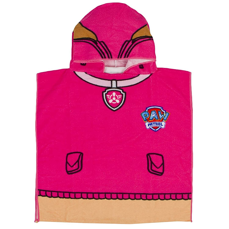 Children's Paw Patrol Skye Hooded Bath Towel Poncho Harwood Textiles