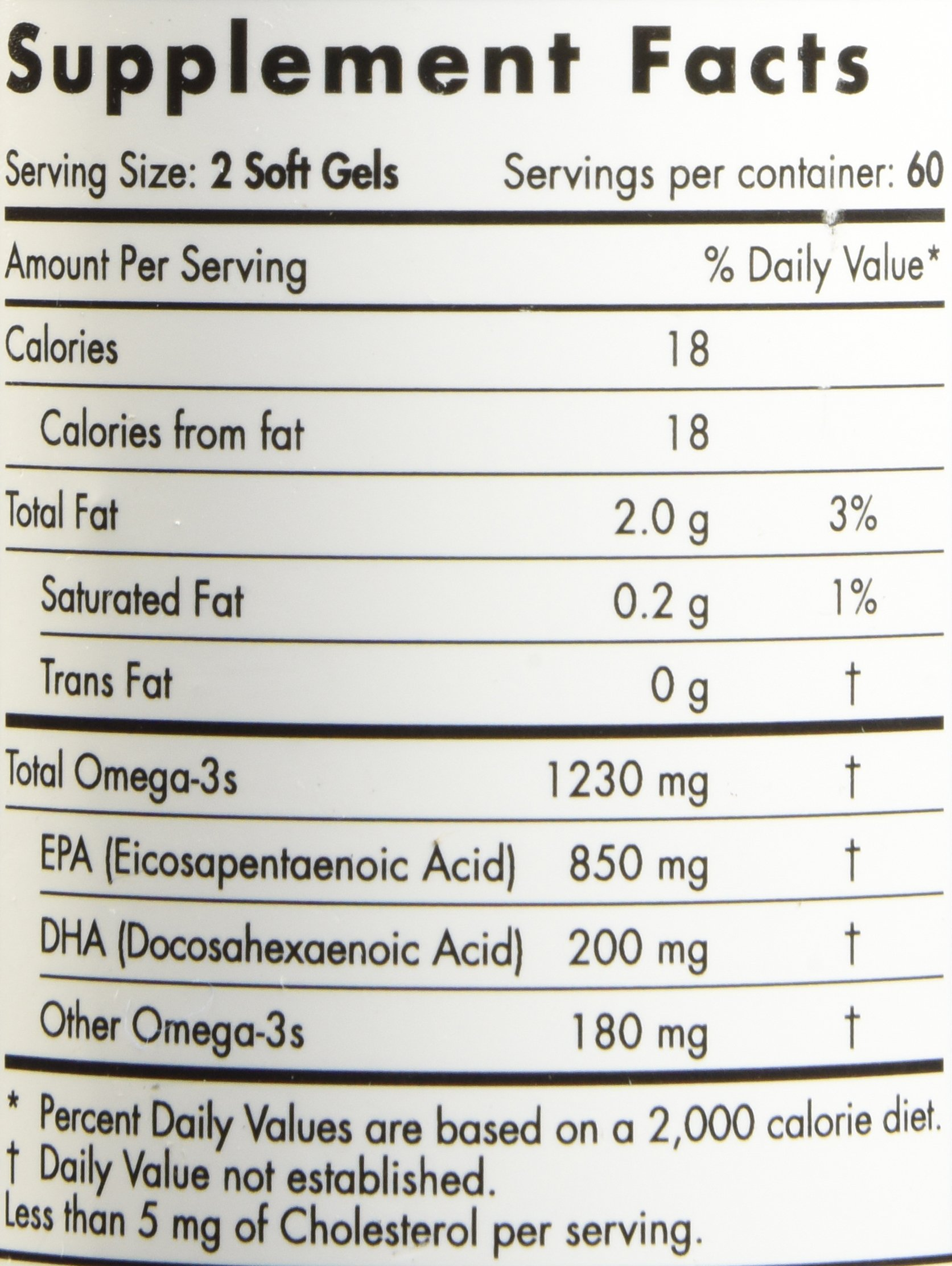 Nordic Naturals Pro - ProEPA, Promotes Cardiovascular Health, Supports Gastrointestinal Health and a Healthy Mood - Lemon Flavored 120 Soft Gels by Nordic Naturals (Image #2)