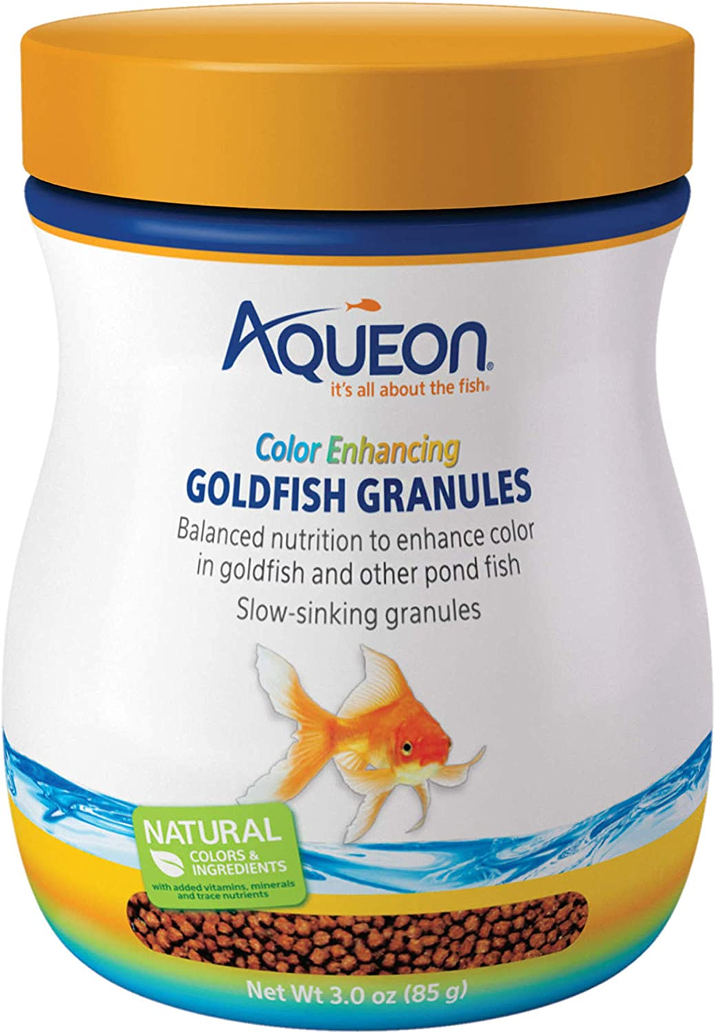 Aqueon Goldfish Food Color Enhancing Granules, 3-Ounce