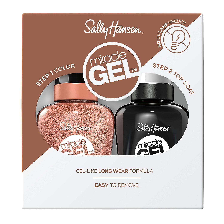 Sally Hansen Miracle Gel Nail Polish Lacquer, Terra Coppa, 1.0 Fl. Oz, Value Pack