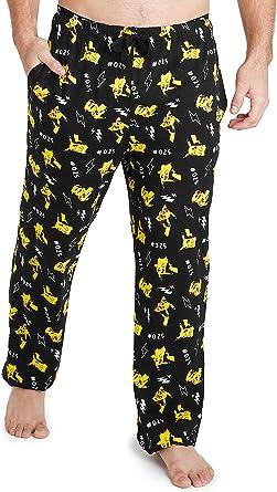 Pokèmon Pijama Hombre, Pantalones Largos Pijama Hombre Invierno con Estampados de Pikachu, Ropa Hombre 100% Algodon, Regalos para Hombre y ...