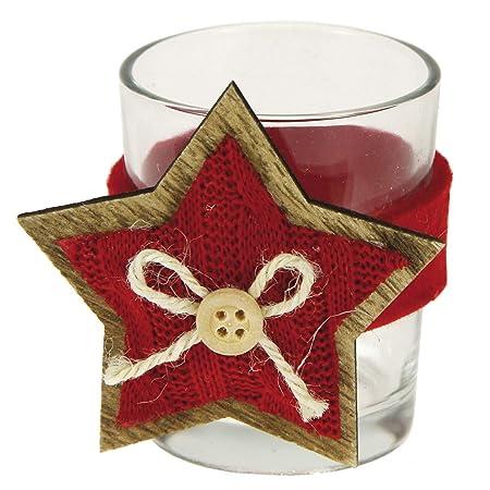 Stefanazzi - 6 portavelas Decorados para la Mesa de Navidad ...