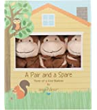 Angel Dear Pair and a Spare 3 Piece Blanket Set, Brown Monkey