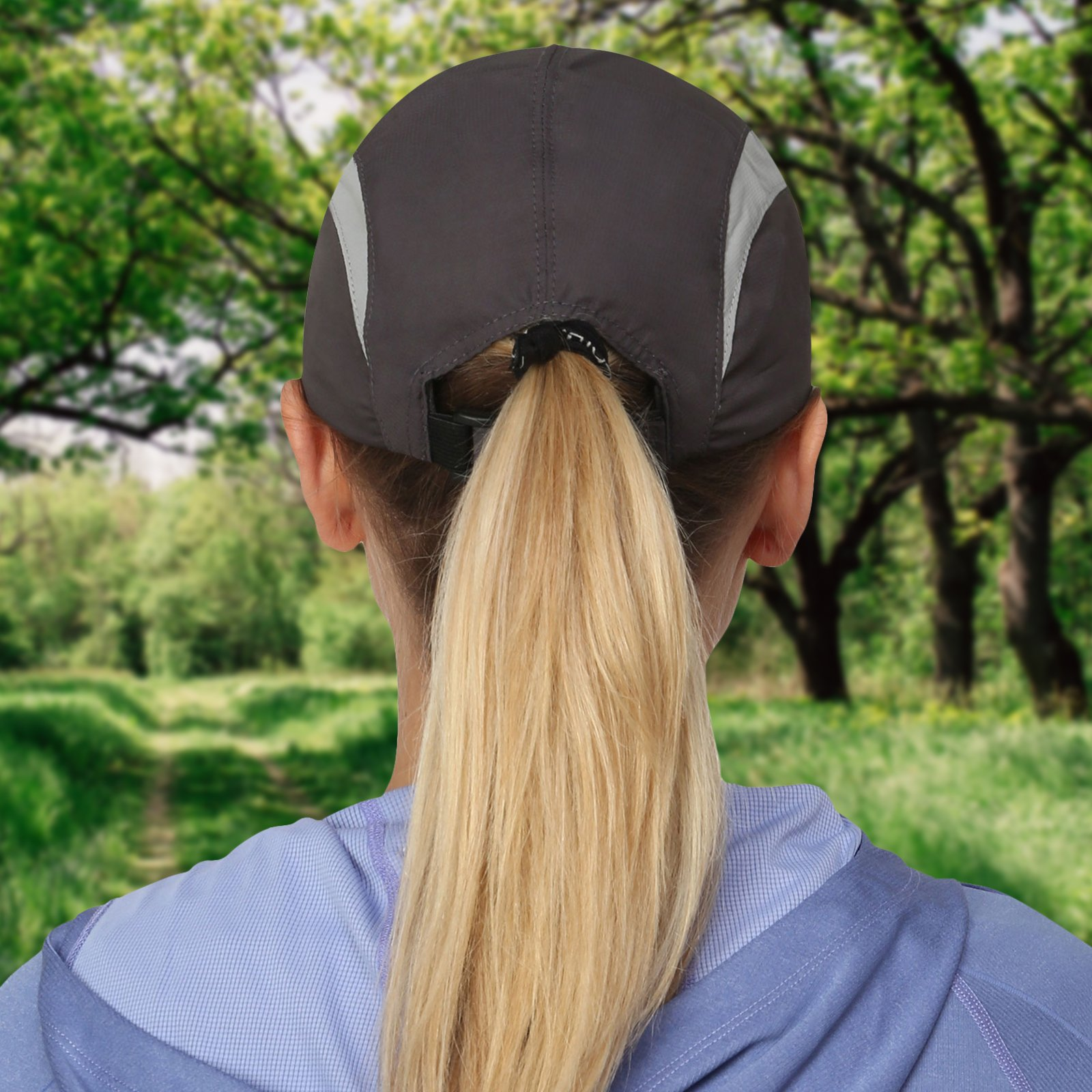 TrailHeads Lightweight Travel Hat | Summer Running Cap for Women | Folding Hat with UV Protection - Medium/Large by TrailHeads (Image #4)