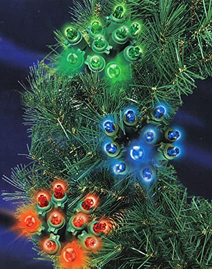 set of 100 multi ultra burst cluster mini christmas lights green wire es77 332