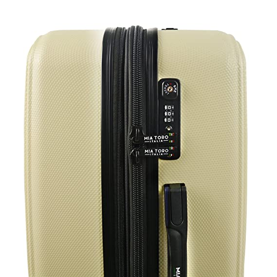 Mia Toro Toro Italy Lumina Hardside Spinner Luggage 3 Piece Set Maleta, 82 cm, (Coffee): Amazon.es: Equipaje