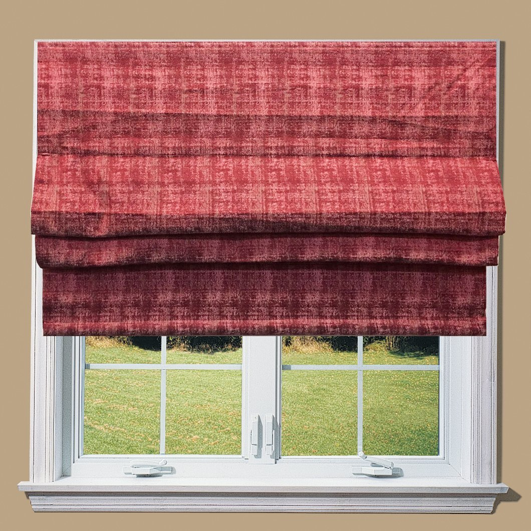 Morocco Red Lined Roman Blind With Fittings (4ft (122cm))