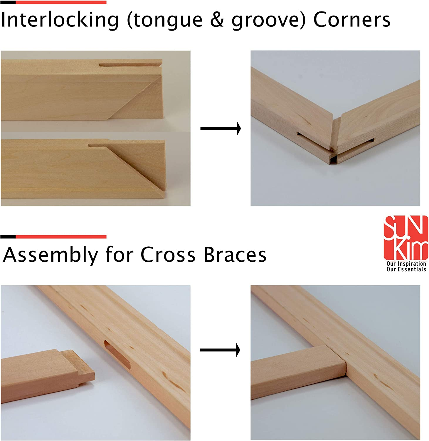 47.5 for 50 1Pcs DIY Cross Braces for Wooden Stretcher Bars//Stretching Strips 5.5 to 69.5 in Length : Art Canvas Frames