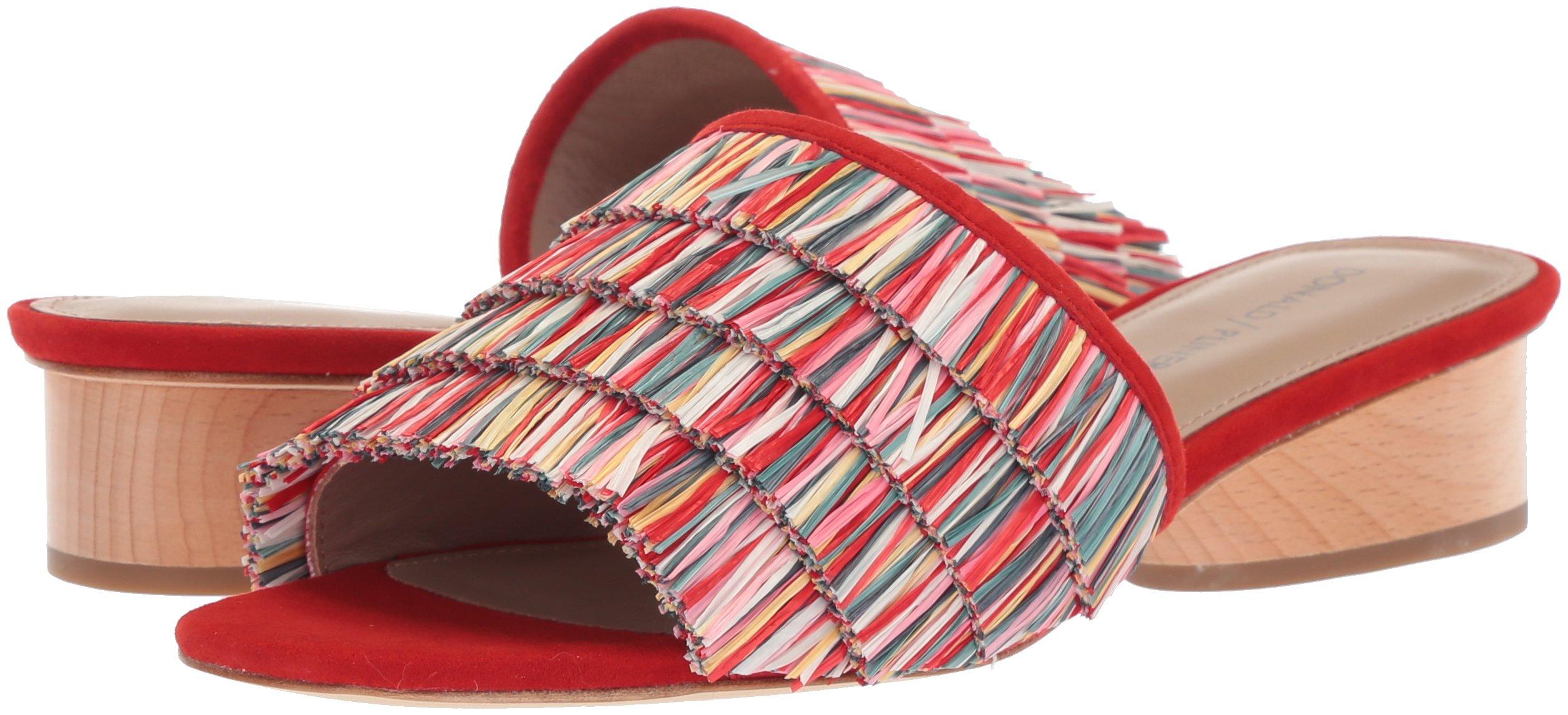 Donald J Pliner Women's Reise Slide Sandal, Red/Multi, 9 Medium US by Donald J Pliner (Image #6)