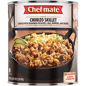 Chef-mate Chorizo Breakfast Sausage Skillet, Canned Meat, Great for Camping Meals, 6 lb 11 oz Bulk Can