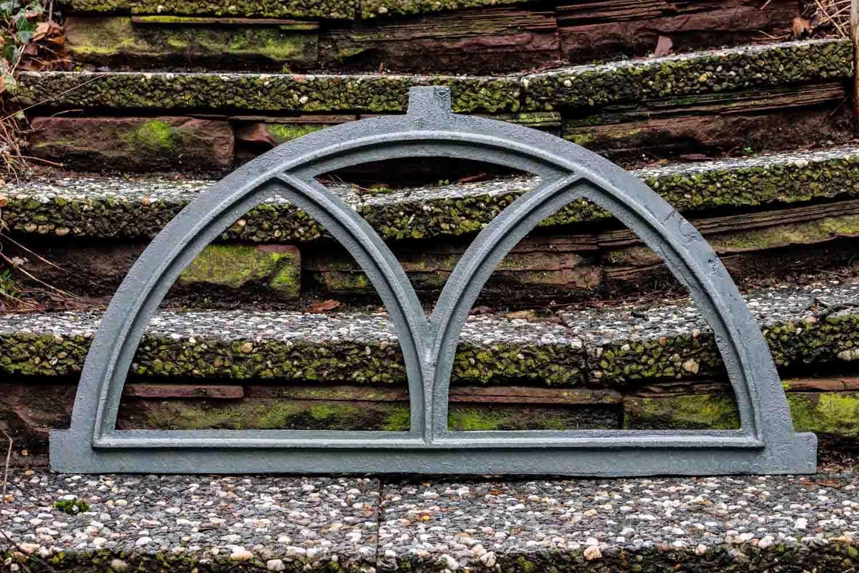 g Fenster grau Stallfenster Eisenfenster Scheunenfenster Eisen 81cm Antik-Stil