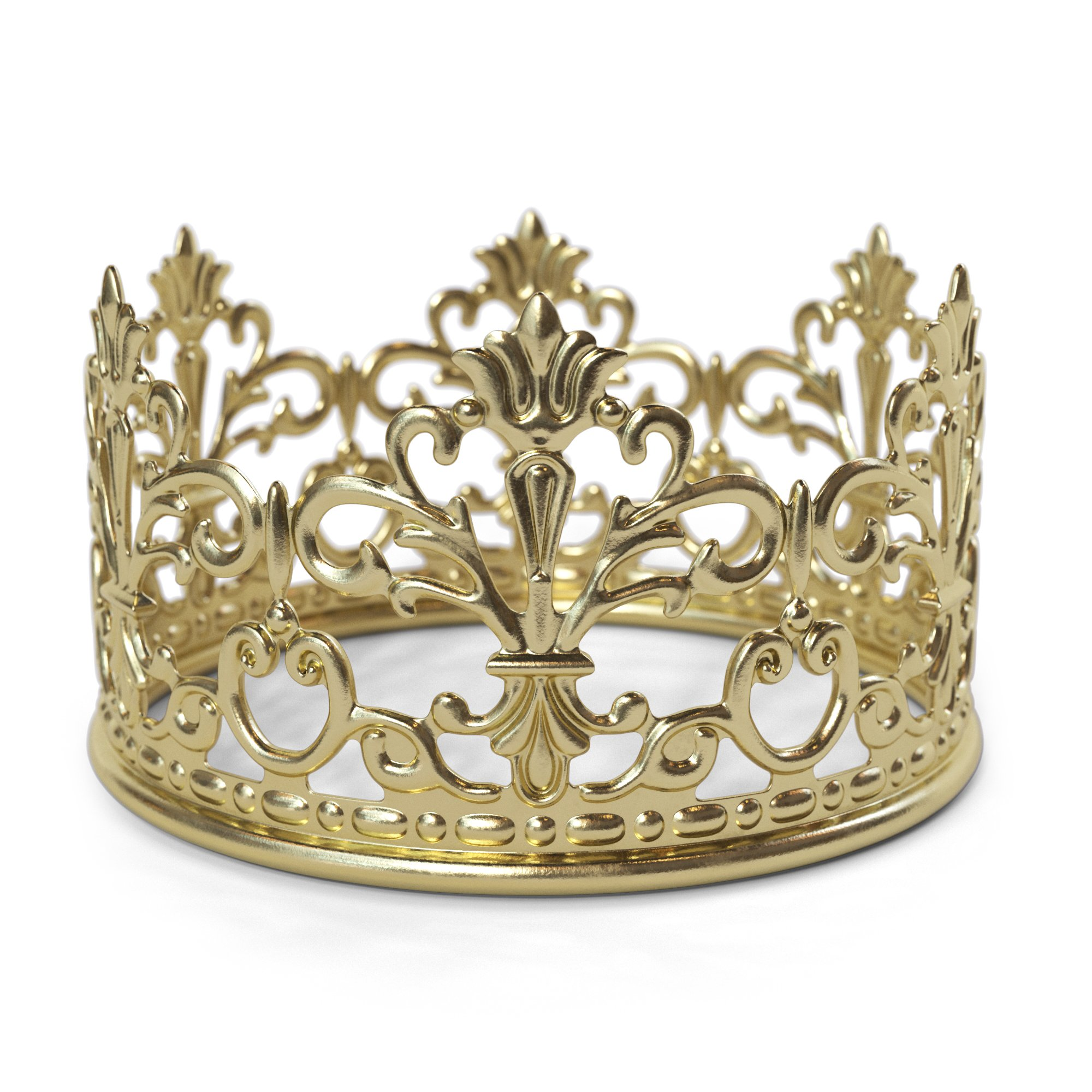 Gold Crown Cake Topper By The Preppy Crown: Elegant Cake Decoration For King, Queen, Prince And Princess Themed Parties –Royal Birthday Cake Decoration For Babies, Kids, Men And Women