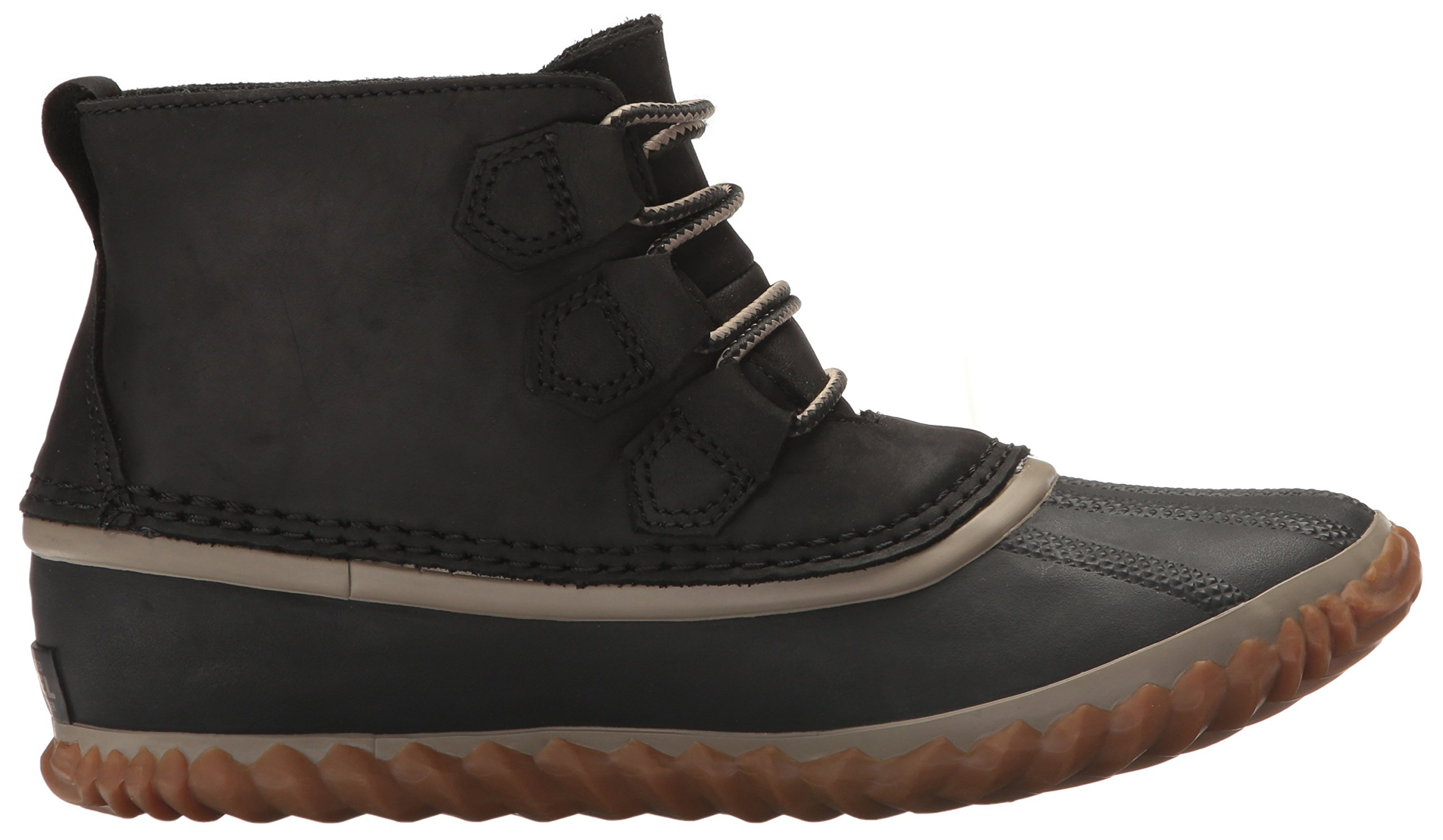 SOREL Women's Out N About Leather Rain Snow Boot, Black, 7.5 M US by SOREL (Image #8)