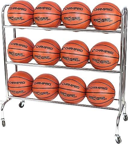 Amazon.com: CHAMPRO 12 Ball Rack con ruedas, Vertical (Plata ...
