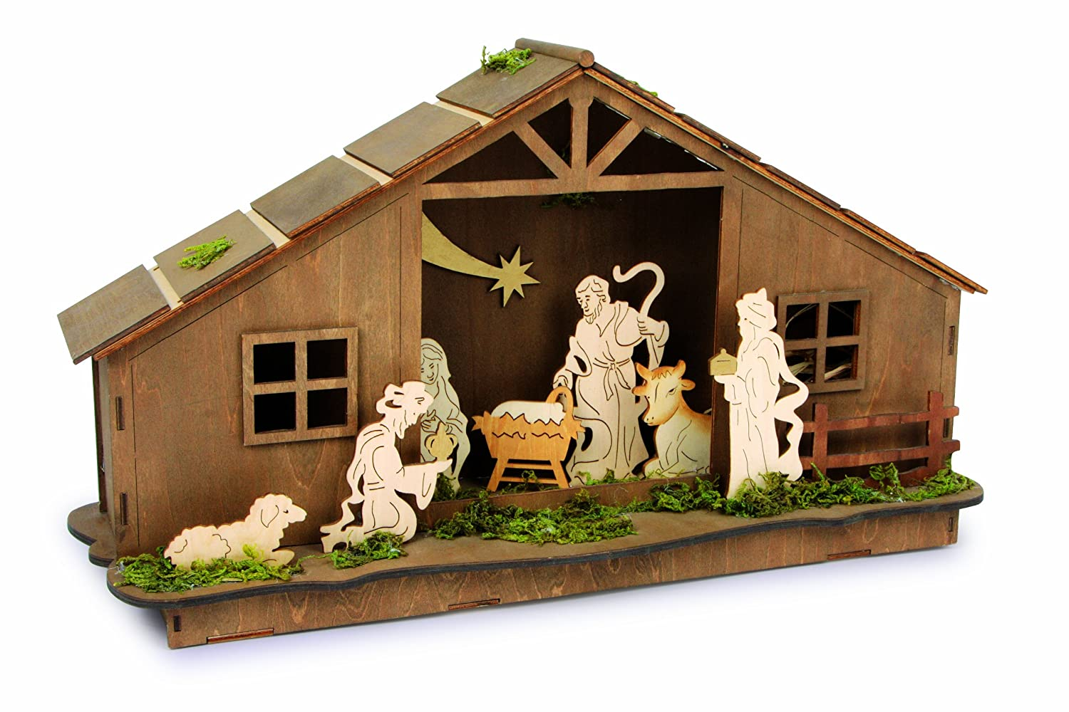Small Foot Company 6446 Camp Nativity Scene Lamp [Energy Class A] Handelshaus LEGLER OHG B004APKB8W