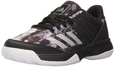 adidas Performance Boys' Ligra 5 K Tennis Shoe, Black/Metallic Silver/White